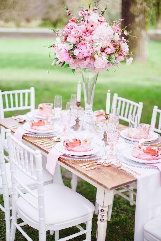 Pink wedding tablescape - Caroline Ross Photography