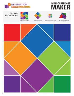 Fantastic resources from our friends at Destination Imagination - Printables (and Foldables!), Instant Challenges, Team-building.