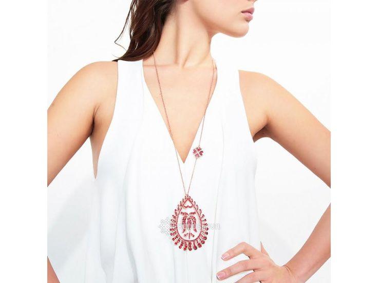 Červený náhrdelník Tulipán. Náhrdelník z kolekce Mileva