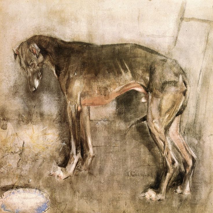 The Greyhound by Joseph Crawhall