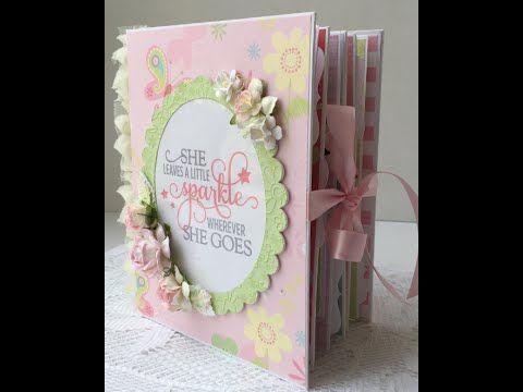 Baby Girl Mini Album & Chipboard Box~Wild Orchid Crafts