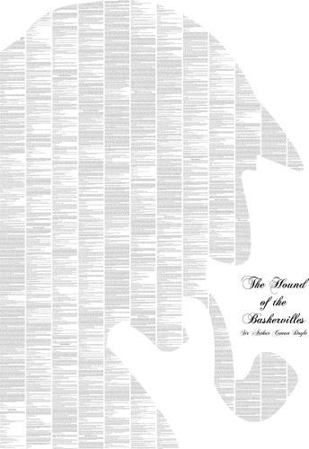 Spineless Classics- a whole book on a single poster- Sherlock Holmes
