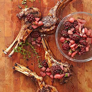 Easter recipe : Lamb Chops with Blackberry-Pear Chutney