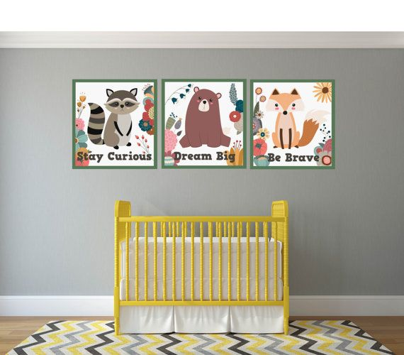 Nursery Wall Quotes, Woodland Nursery Wall Art, Woodland Animal Wall Decals, Woodland Animal Prints, Woodland Animal Nursery Prints