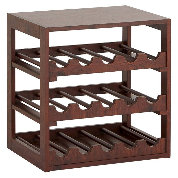 Candace Transitional Wine Storage Rack Vintage Walnut - Furniture of America, Brown