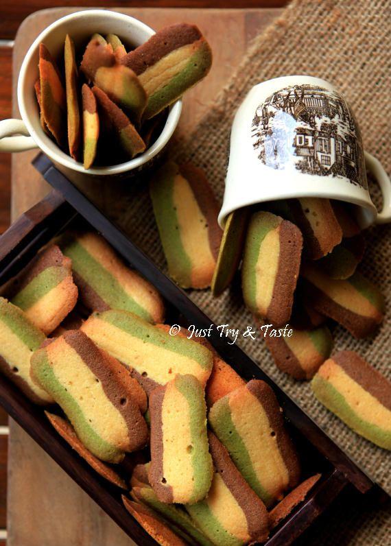 Just Try & Taste: Resep Kue Kering Lidah Kucing Tiga Rasa (Original, Green Tea dan Coklat)