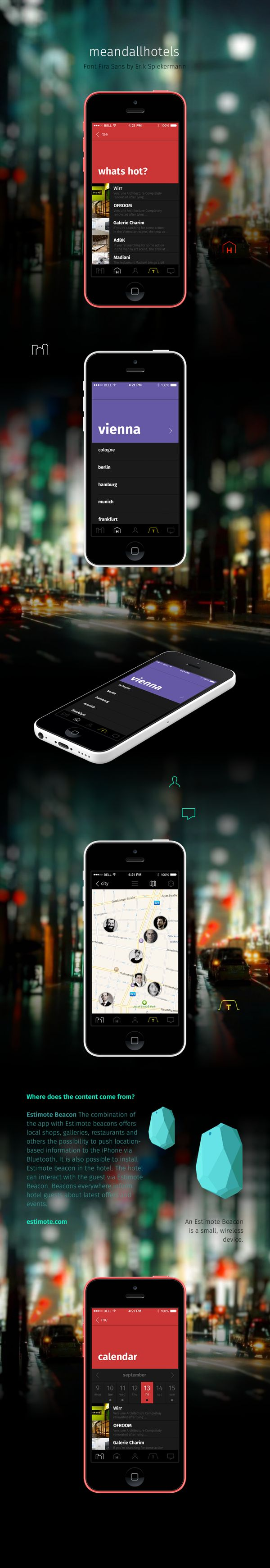 meandall app 2.0 by Conny Naumann, via Behance