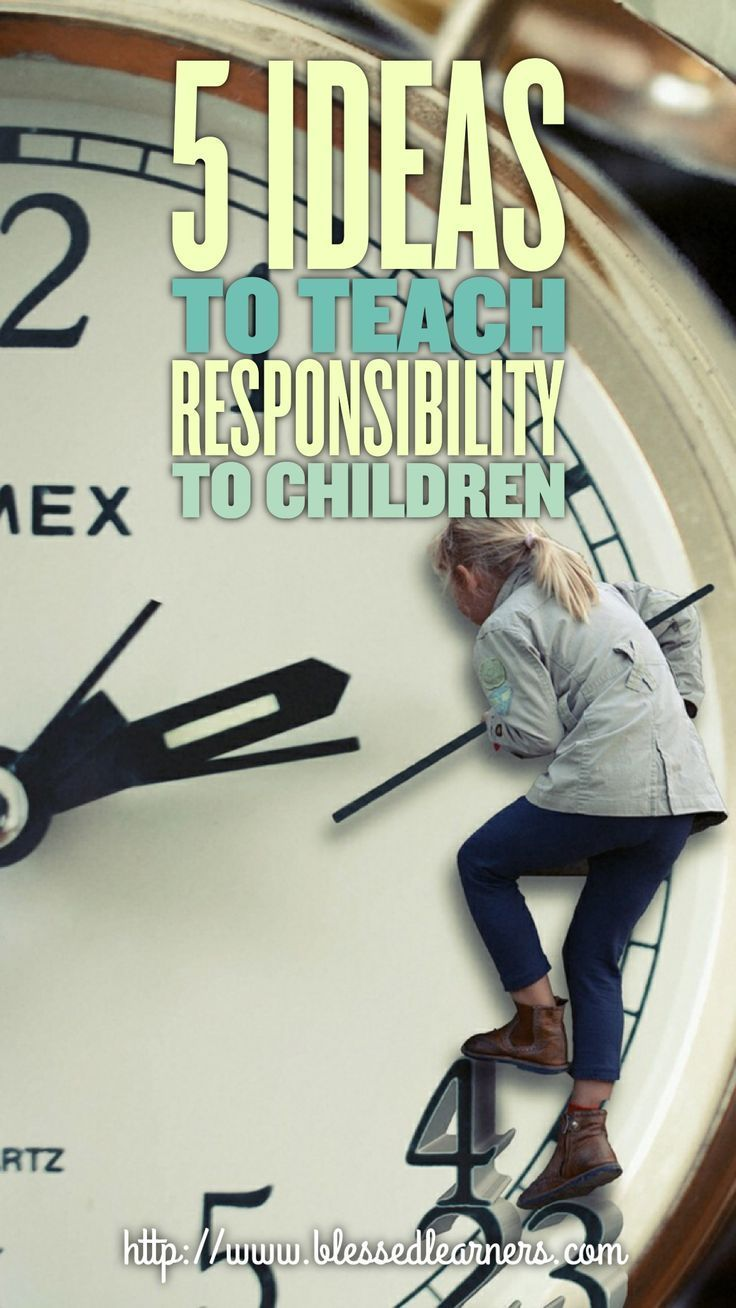 I always believe that the time of automatic sense of being responsible will come one day. However, isn't it better to teach responsibility to children?