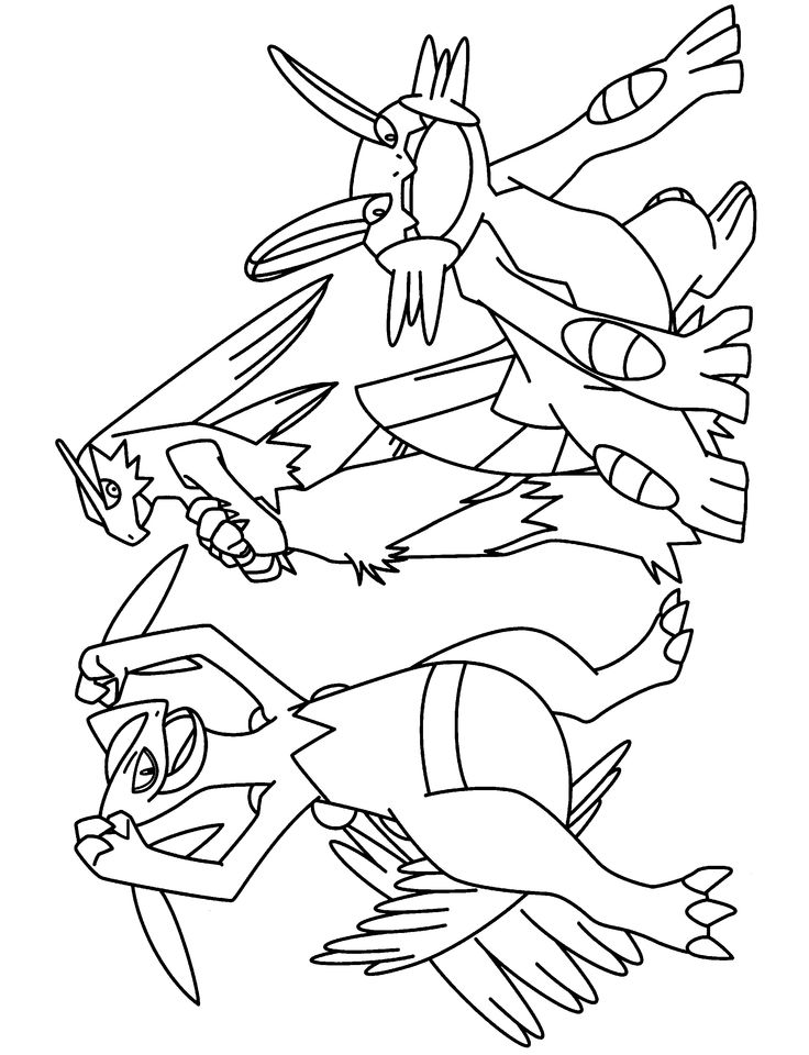 pokemon group coloring pages - photo#42