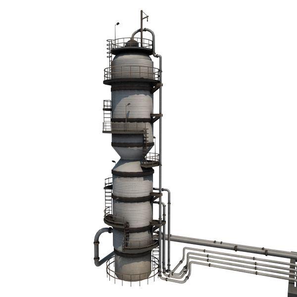 Oil Refinery 01 - game-ready 3d model by gamedev.cgduck.pro - Gamedev ...