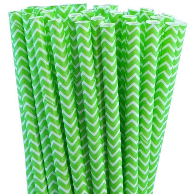 Greenmunch - Paper Straws - Jasmine Green Chevron, $4.50 (http://www.greenmunch.ca/paper-straws/standard-length/chevron/paper-straws-jasmine-green-chevron/)
