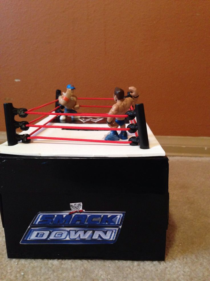 how to make a wrestling ring valentine box