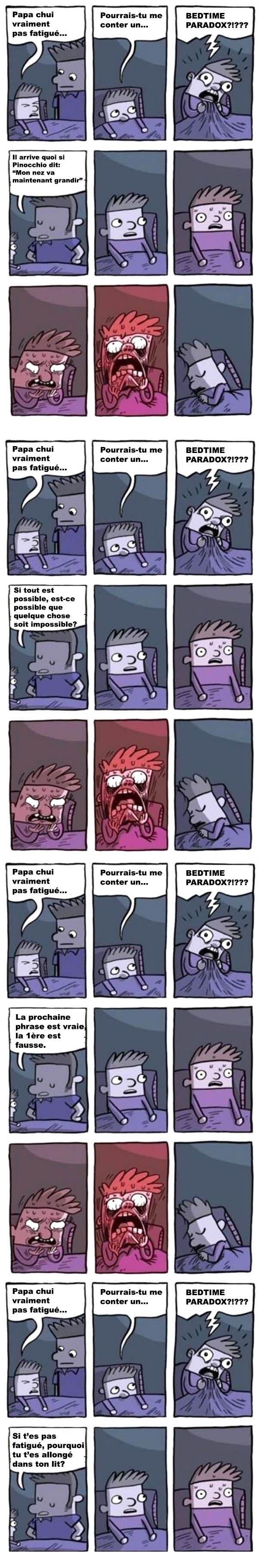 Des paradoxes avant de se coucher