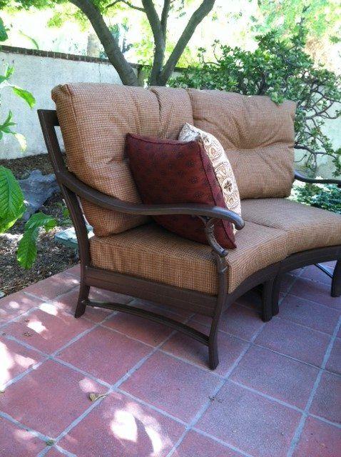 tropitone ravello cushion collection with custom pillows decor outdoor seating patio