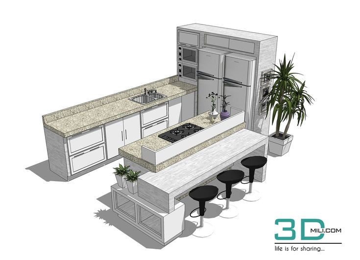 cool 05. Kitchen Sketchup Models and Textures Free Download Download here: https://su.3dmili.com/room/kitchen/kitchen-models/05-kitchen-sketchup-models-textures-free-download.html