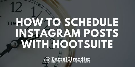 How to Schedule Instagram Posts with Hootsuite