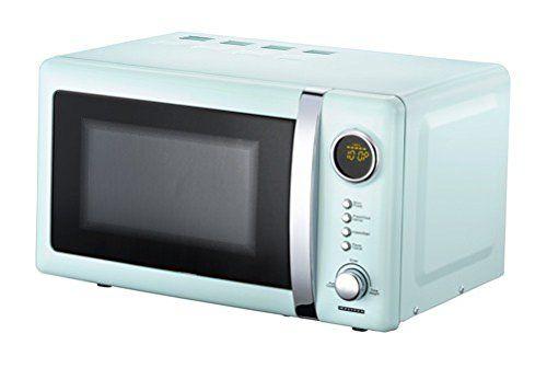 Melissa 16330110 Classico Retro Mikrowelle blau-metallic