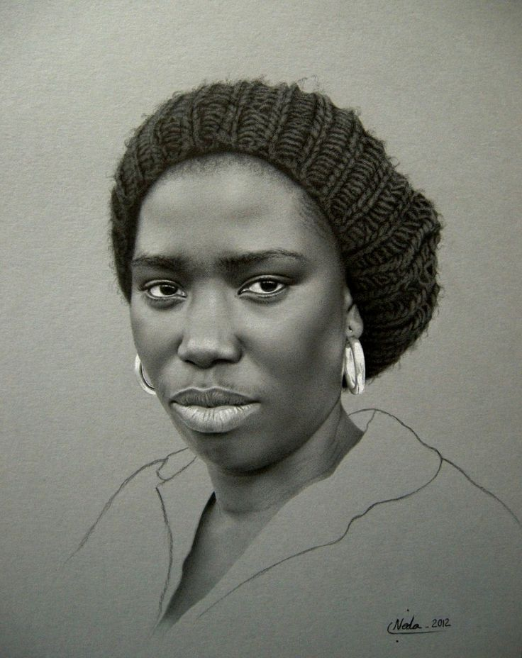 Neda Sajadi (pencil drawing) - can't believe it's a pencil drawing
