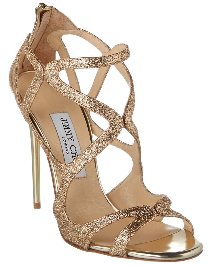 Jimmy Choo Leslie 110 Glitter Fabric & Leather