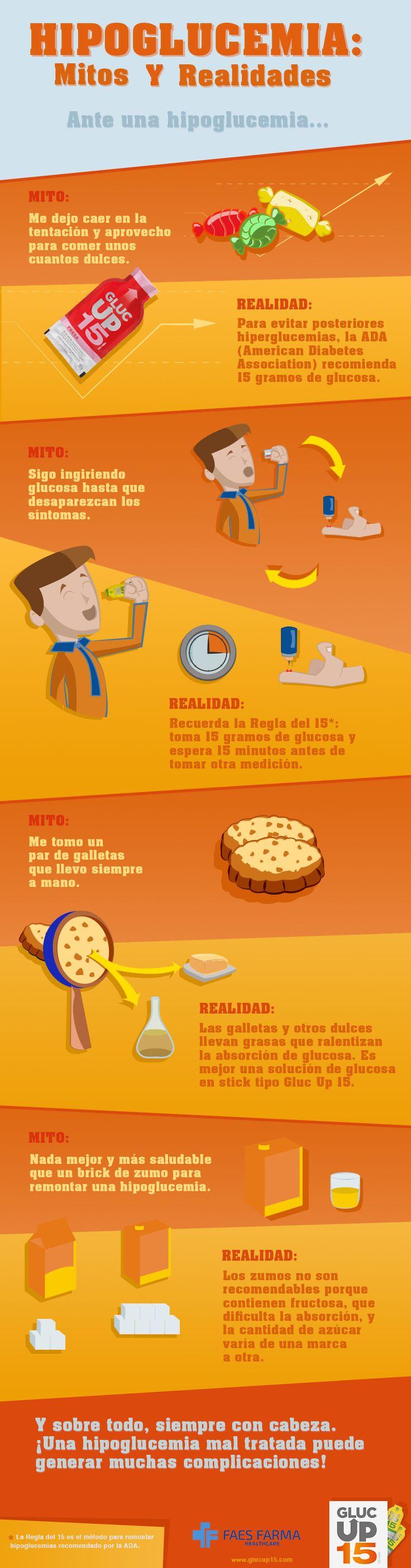 Publicamos de nuevo la infografía sobre mitos y realidades de las hipoglucemias :) #diabetes #hipoglucemia