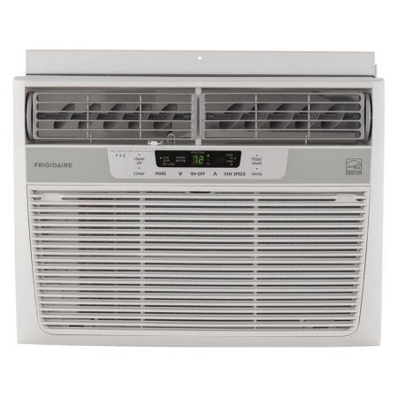 Frigidaire FFRE1233S1 12,000 BTU 115V Window-Mounted Compact Air Conditioner with Temperature Sensing Remote Control, White