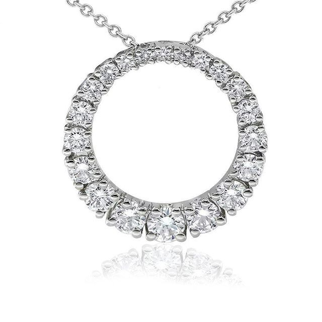 Celebrate with the Classic diamond circle pendant by Gerard McCabe. An exquisite circle of tapered diamonds crafted in 18ct white gold.  Circles are a beautiful symbol with which to celebrate love, new life or new opportunities.  The versatile Classic Cir