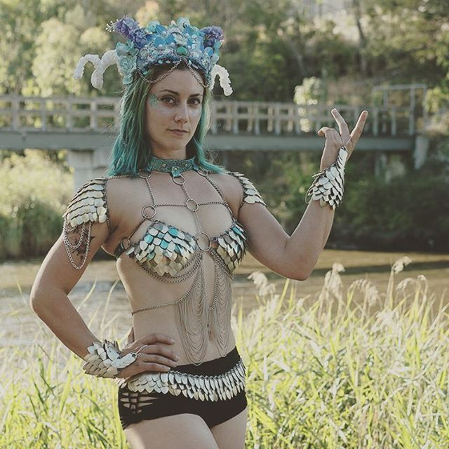 circus performers make amazing models  so fun to work with too    Photo by @ddot.kaazi  .  .  #tricksypixies #headdress #persianpunk #scalemaille #gameofthrones #pixie #costume #mermaidlife #performer #dressups #model #girls #promoters #showgirl #bellydance #goddess #armor #scalemail #sorceress #burnergirls #glam #costume #mythicalcreatures #glitter #festival #metalic #fantasy #outfit #lookbook