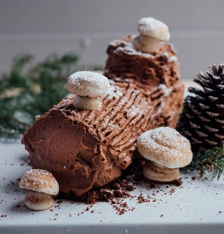 Get the festive effect for half the effort with this easy, delicious update on a yule log cake.