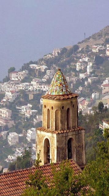 Praino vista di Furore - Napoli, Italy