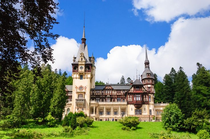 Peles Castle in Sinaia, Bucegi Mountains