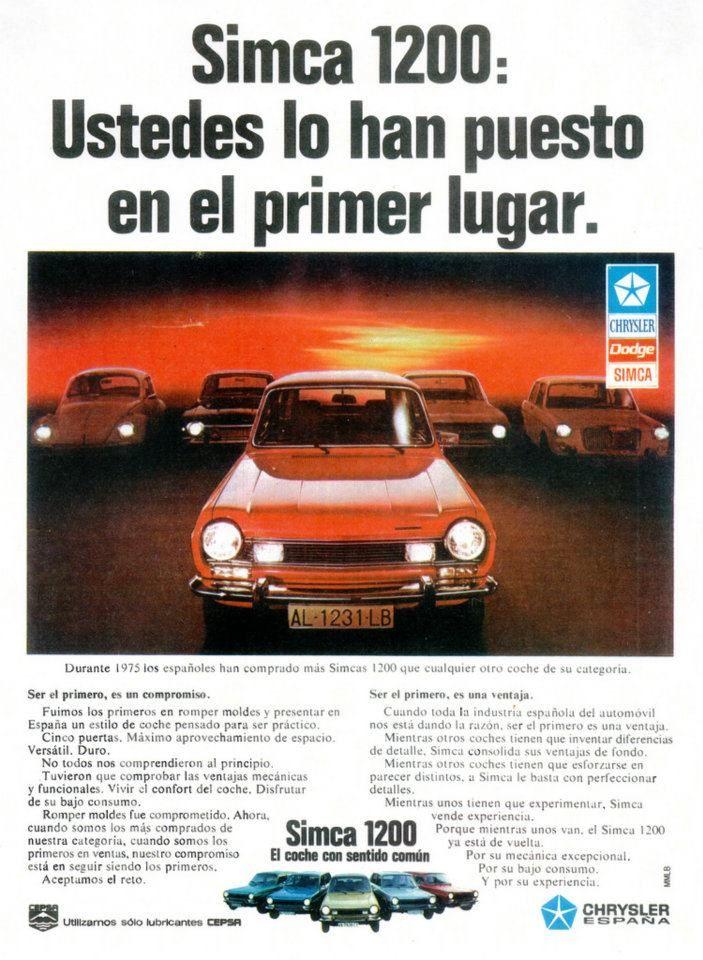 1975 Simca 1200. El segundo coche de mi papi.