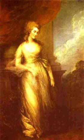Georgiana, Duchess of Devonshire - Томас Гейнсборо