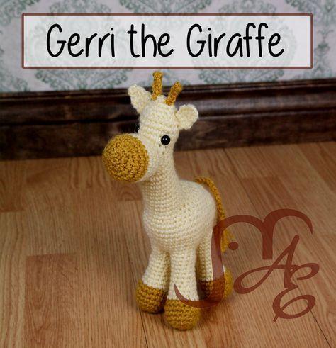 Giraffe Amigurumi - free crochet pattern at Auburn Elephant