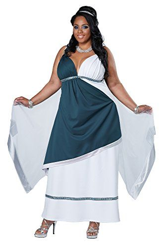 Fashion Bug Womens Plus Size Roman Beauty Goddess Queen Long Dress Plus www.fashionbug.us #PlusSize #FashionBug #Costumes