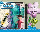 Printable Monsters Inc Invitation, Monsters inc Party, Monsters Inc Invite