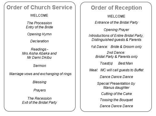 best 25  wedding reception program sample ideas on