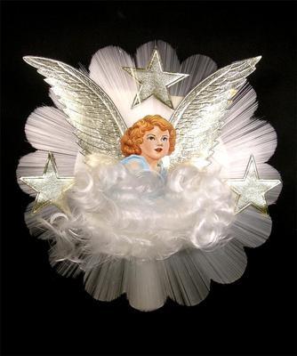 Vintage Angel Christmas Tree Topper