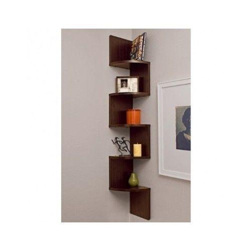 Corner Wall Shelf Zig Zag Shelves Home Decor 5 Levels