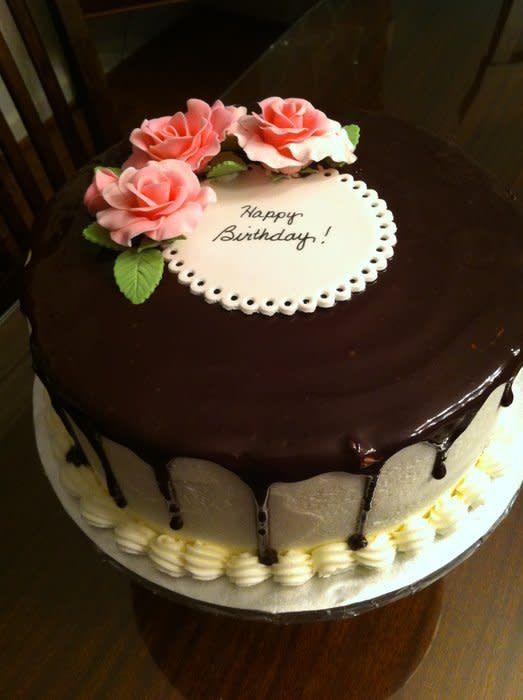 Chocolate Ganache Birthday Cake