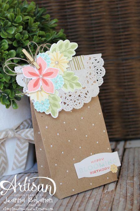 Flower Fest Bag - Jeanna Bohanon 2013 Stampin' Up! Artisan Design Team
