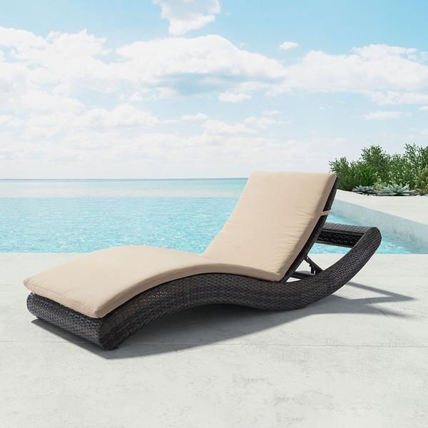 Featuring A Uv Resistant Synthetic Weave The Zuo Pamelon Beach Chaise Lounge Can Take Your Poolside Par Beige Chaise Lounge Patio Chaise Lounge Outdoor Chaise