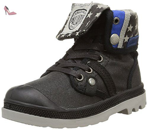 Palladium Baggy Wax K, Chaussures hautes mixte enfant, Noir (A54/Black/Stars), 32 EU - Chaussures palladium (*Partner-Link)