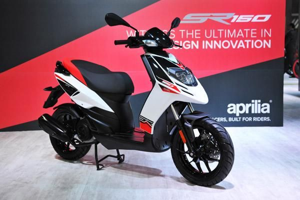 The Aprilia SR 150 will share engines with the Vespa 150cc models.