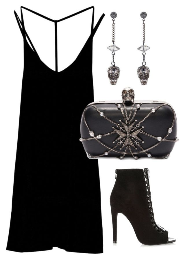 """""""Untitled #18"""" by lchrumka on Polyvore featuring RVCA, River Island, Alexander McQueen, Nadia Minkoff, women's clothing, women, female, woman, misses and juniors"""