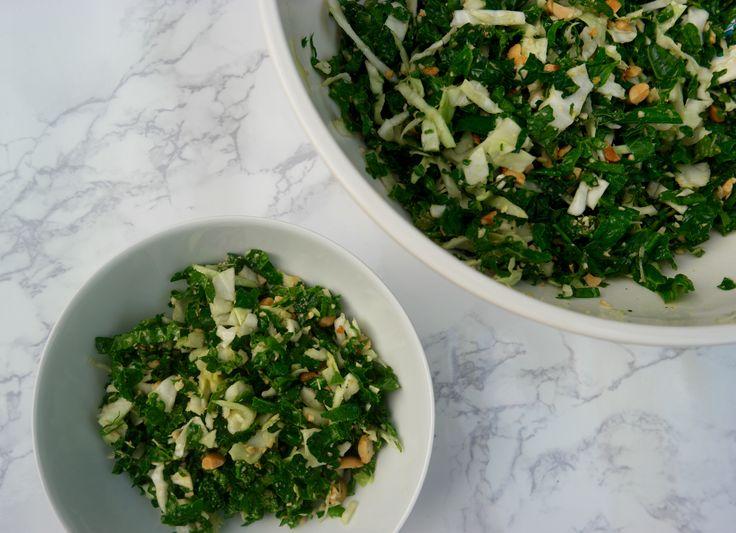Peanut Kale Salad inspired by Hillstone, Honor Bar, Houston's