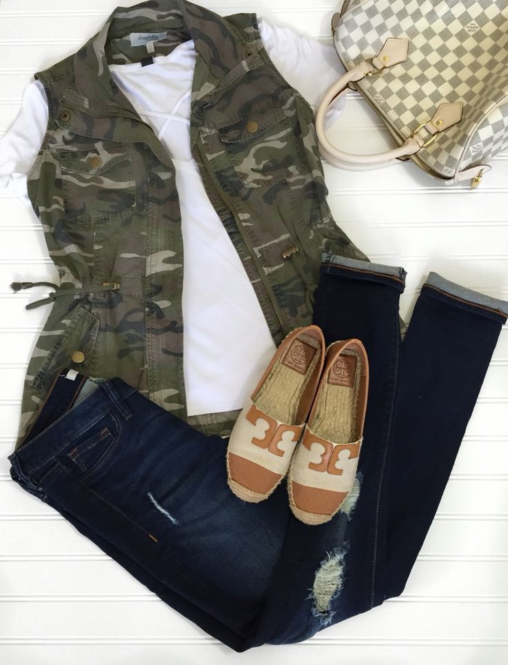 Camo vest with espadrilles!!  Instagram: my.southern.style