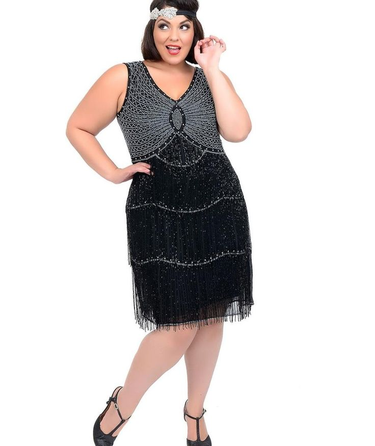 Great gatsby fancy dress plus size