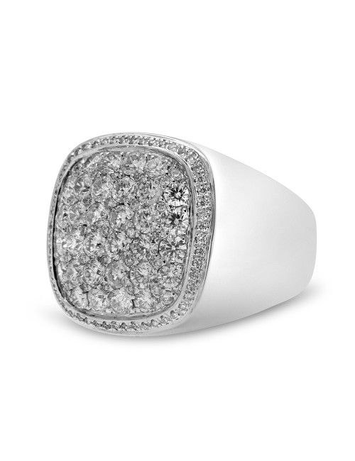White Gold Diamond Pinky Ring
