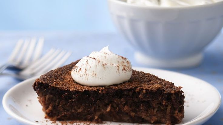 Chocolate and coconut add a rich flavor to this easy pie that's made using Bisquick® mix - perfect for dessert.