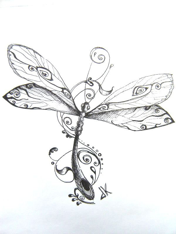 Dragonfly Tattoo Pattern